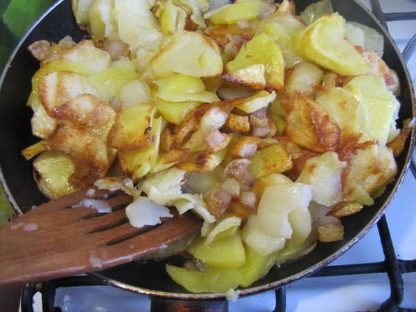 картофель жареный на сале 2
