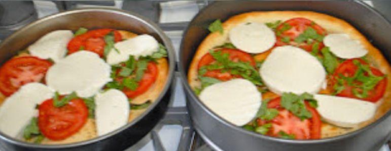 Пицца с моцареллой и базиликом - рецепт пошаговый с фото