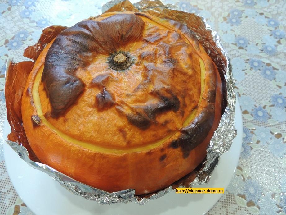 Рисовый завтрак запечёный в тыкве - рецепт пошаговый с фото