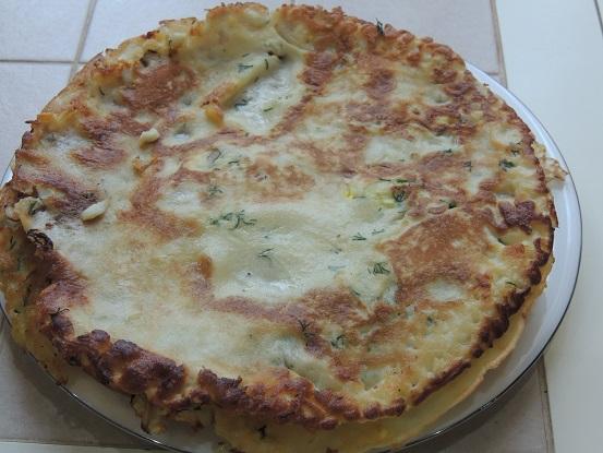 Блины с припеком из яйца и зеленого лука - рецепт пошаговый с фото