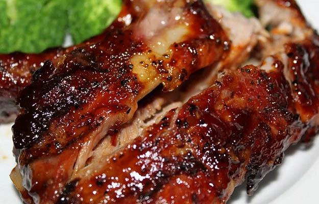 Свиные ребрышки запеченные по-канадски пошаговый рецепт с фото